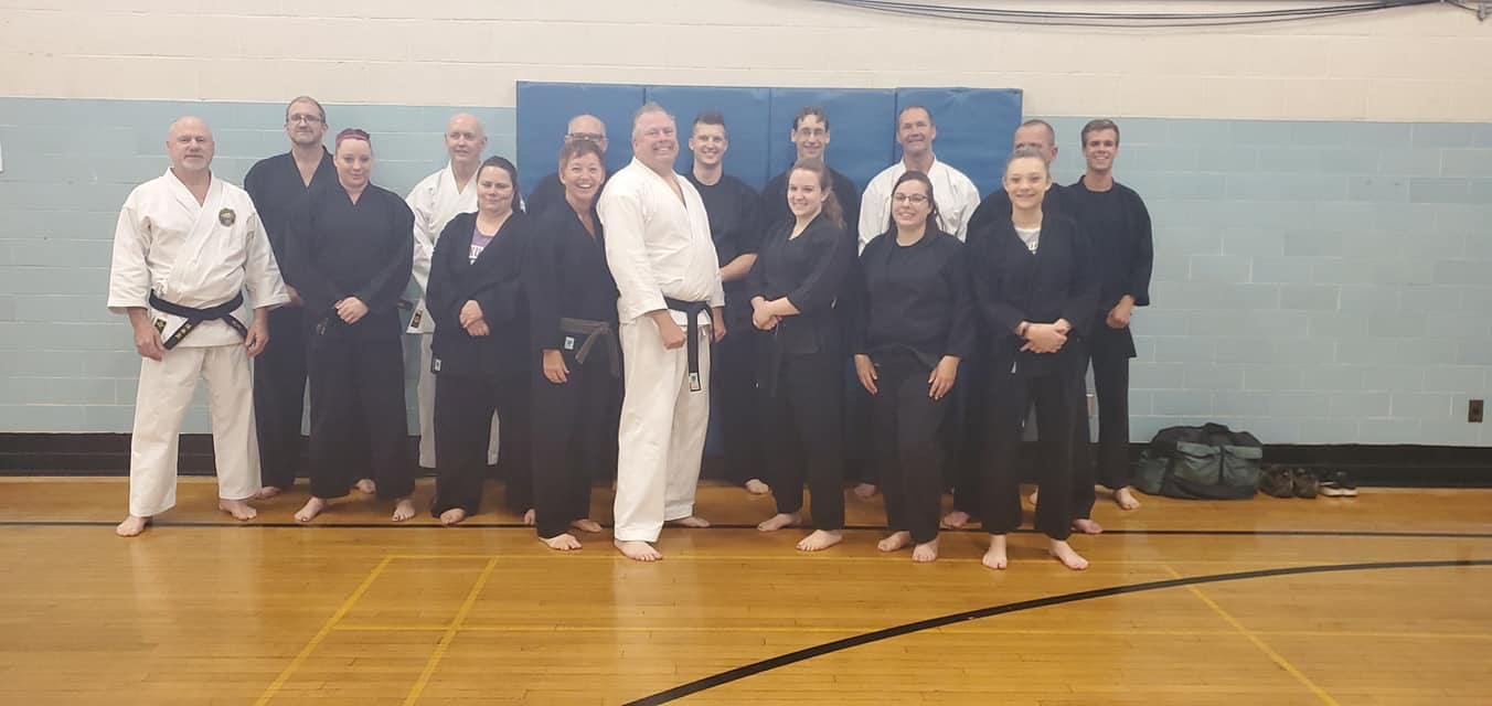 very unique class, having an average of 8-12 black belt instructors per class, which gives each student more one on one or smaller group instruction. We have been teaching karate at the Robert K. Fox Family Y for more than 45 years under the Head Sensei, Gary Darling. Each session has a minimum of 2 free classes at the end of each session, which is when eligable students can be promoted to the the next rank/belt. Promotions cost $15 per belt, with the exception of a black belt promotion, which is free. The karate uniforms (Gi's) and karate club t-shirts can be purchased at wholesale prices within our class. White Gi - $20 Black Gi - $25 T-Shirt - 10 Sparring, Training Gear and Weapons are provided, but can be purchased at wholesale prices if you so choose. Join us in Spirit & Strength!